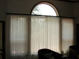 decorative traverse rods with contemporary living room and curtain