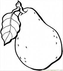 Black clipart pear 8