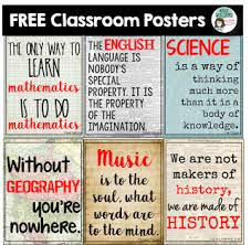 Classroom Poster Ideas For Middle High School