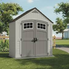 Suncast 7x7 Shed Accessories by Suncast 7x4 Blow Molded Resin Storage Shed Bms7400 Do It Best