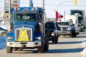 100 Ottawa Trucks Convoy Skirts Winnipeg On Way To Winnipeg Free Press