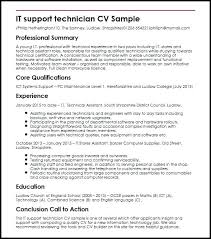Resume For It Technician Mechanical Objective Examples