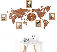 aarrm weltkarte foto wanduhr küche wohnzimmer dekoration 3d bilderrahmen uhr stumm diy uhr spiegel holz uhr geschenk für freunde familie