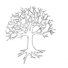 Tree Without Leaves Coloring Page To Print And Download For Kids At Pages Of Trees