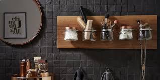 badregal selber bauen aus weckgläsern oder jars