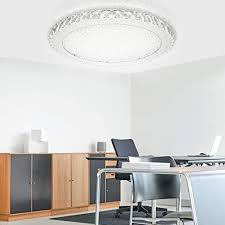 karpal led kristall deckenleuchte dimmbar 48w deckenle runde deckenbeleuchtung fuer flur wohnzimmer schlafzimmer kueche wandle mit fernbedienung