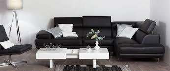 canapé d angle cuir de buffle canapé d angle en cuir noir avec têtières ajustables jenkins