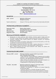 Clinical Pharmacist Resume Examples Unique Sample Pharmacy For Freshers Full Size