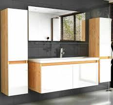 badmöbel set 120 cm eiche artizan weiss nachbildung hochglanz badezimmermöbel bad schränke spiegel unterschrank waschtisch spiegel ablage 2x