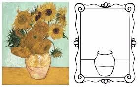 Coloriage Les Tournesols De Van Gogh