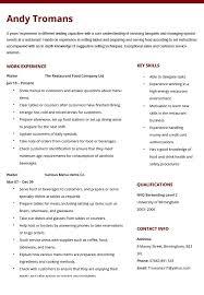 15 Elegant Food Server Resume
