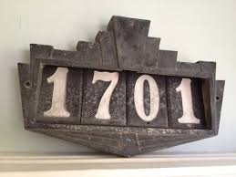 19 best deco images on house number plaques house