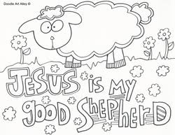 Pleasurable Design Ideas Jesus The Good Shepherd Coloring Pages