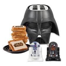 wars kitchen gift set darth vader toaster and droids salt pepper shaker walmart