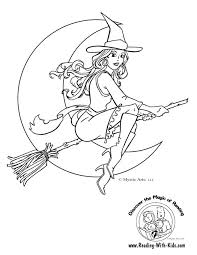 Lovely Idea Witch Coloring Pages Page About We Have Included Several Festive With Free Halloween Witches