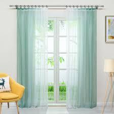joyswahl 2 stück farbverlauf gardinen mit kräuselband voile transparente vorhänge dekoschals für wohnzimmer grün bxh 140x245 cm by 19 2