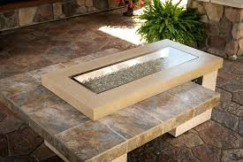 tile pit table rectangle outdoor pit table pit
