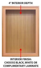 SwingFrame Designer Wood Frame Wall Mounted Large Display Case 4 Deep