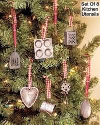 Miniature Kitchen Utensils Christmas Tree Ornaments Set Of 8