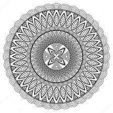 Mandala Coloring Book Boho Style Hippie Jewelery Round Ornament Pattern Vintage Decorative