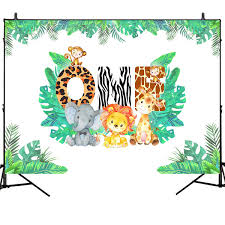 Personalized Baby Shower Stickers And Tags Cute Jungle Animals Favor