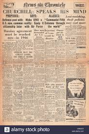 1946 news chronicle churchill delivers iron curtain speech at