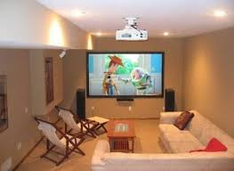 living room living room theater focus on modern glass tv stand
