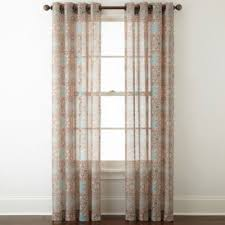Sheer Curtain Panels With Grommets by Jcpenney Home Batiste Paisley Grommet Top Sheer Curtain Panel