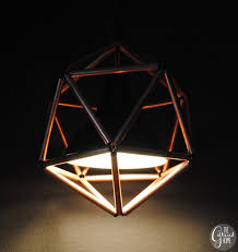 DIY Geometric Copper Pipe Pendant Light