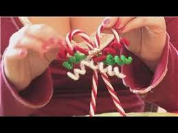 Christmas Crafts How To Make Candy Cane Tree Ornaments