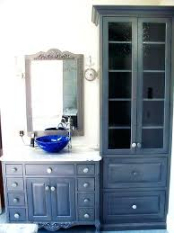 bathrooms design bathroom vanities with linen tower and antique