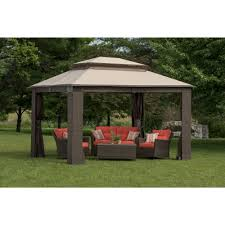 Bjs Patio Furniture Cushions by Berkley Jensen Antigua Wicker And Aluminum Gazebo Bjs Wholesale