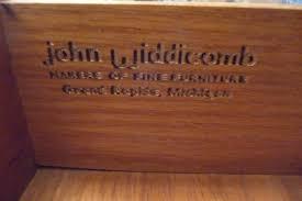 5 piece john widdicomb american furniture bedroom set antique