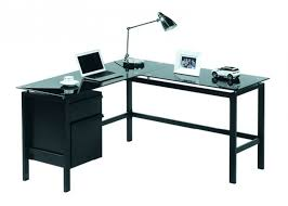 Glass Desk Office Depot by Desk L Shaped Glass Target Top Office Intended For Contemporary