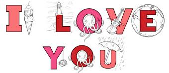 Valentines Day Series Say I Love You With Coloring Pages