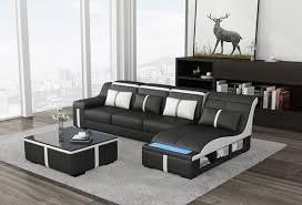 eck sofa polster eck sitz l form leder garnitur wohnlandschaft beleuchtet