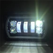 Truck 4X6 Inch Led Square Headlight White Halo DRL Yellow Turn ... 092014 Ford F150 Pickup Truck Black Led Tube Bar Projector Halo Headlight Accent Lights With T314 Adapter Super Bright Leds Best 5 X 7 90w Square Led Driving Lamps With Hilo Lite Heated Headlamps Youtube Lumen Sb7655hlblk 7x6 Rectangular Headlights Headlight Bulbs Forum Community Of Fans 5x7 Buy Promotion Inch For 4x6 Polycarbonate Lens Alinum Low Fxible White And Amber For Custom 2 Pcs 4x6 Inch 12v 24v Trucks Trucklite Installation Writeup A Jeep Xj Cherokee Auto Headlamp 6x7 High