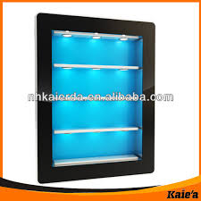 fashion wall mount display cabinets with led light for clothing