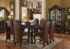 Versailles Counter Height Dining Room Set Cherry Oak