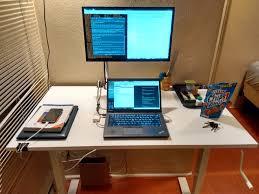 Monitor Shelf For Desk by Sit Stand Desk Ikea Skarsta Review Chris Martin U0027s Blog
