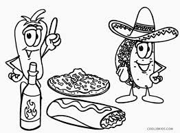 Mexican Food Coloring Pages