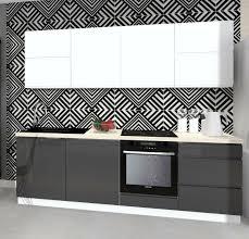 neu design küche 240cm weiss anthrazit hochlanz mdf ohne arbeitsplatte