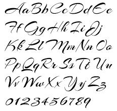Cursive Writing Alphabet