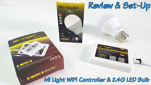 mi light wifi controller and 2 4g milight e27 led bulb review