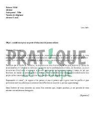 lettre de motivation pour un emploi d éducatrice jeunes enfants