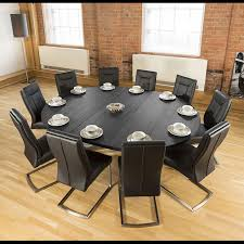 Large Oval 1.8 X 2.3m Black Oak Dining Table + 10 Vintage Black Chairs Ding Room Circular 10 Gorgeous Black Tables For Your Modern Pulaski Fniture The Art Of 7 Piece Round Table And Best Design Decoration Channel Really Inspiring Creative Idea House By John Lewis Enzo 2 Seater Glass Marble Kitchen Sets For 6 Solid Wood Island Mahogany Zef Set Kitchens Sink Iconic 5 Deco Double Xback Antique Grey Stone 45 X 63 Extra Large White Corian Top Chairs 278 Rooms With Plants Minimalists Living