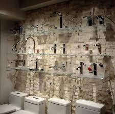 bathroom tile displays chakra