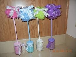 Spa Topiary Favors Baby Shower Bridal Treat Bags