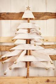 White Palette Christmas Tree With Bell Accents