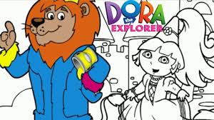 Princess Dora And King Lion The Explorer Episode Nick Jr Coloring Book Creative For Children